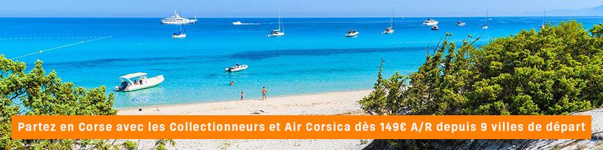 Partenariat entre Air Corsica et les Collectionneurs