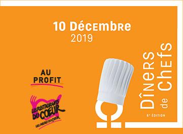 Pré-réservez votre table dans l'une de nos 11 soirées en France et vivez la 6ème édition des Dîners de Chefs