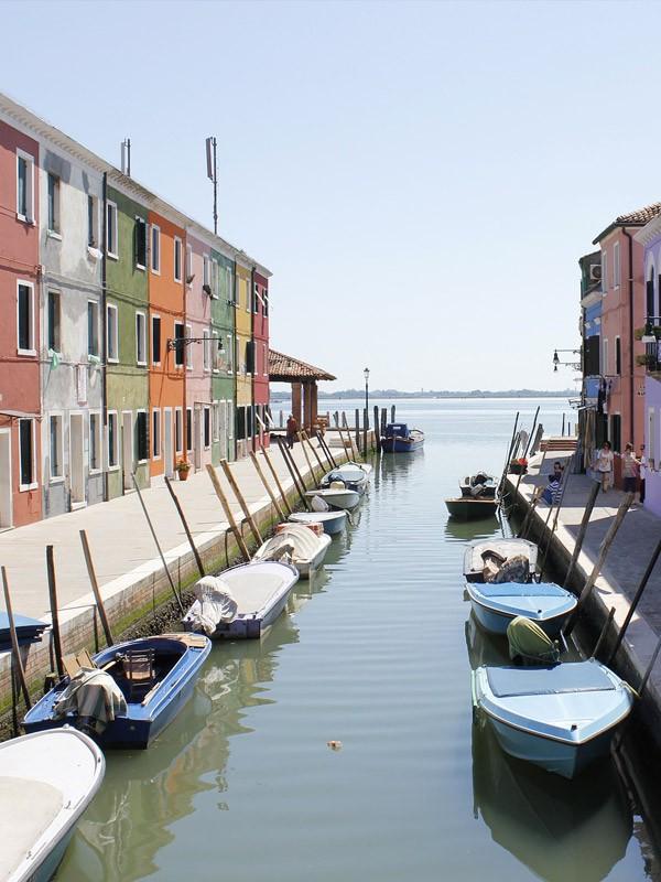 Venise, île Burano - ville d'Europe à visiter