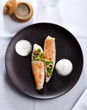 Voici un exemple de plat magnifiquement réalisé au restaurant Le Crom'Exquis à Paris 8e
