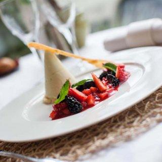 Dessert à base de fraise