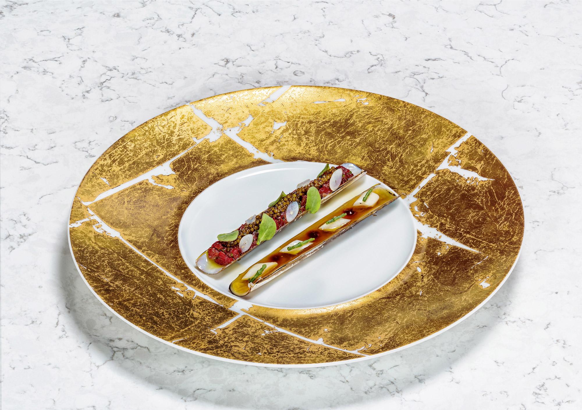 Retrouvez un exemple de plat réalisé par Pierre Meneau