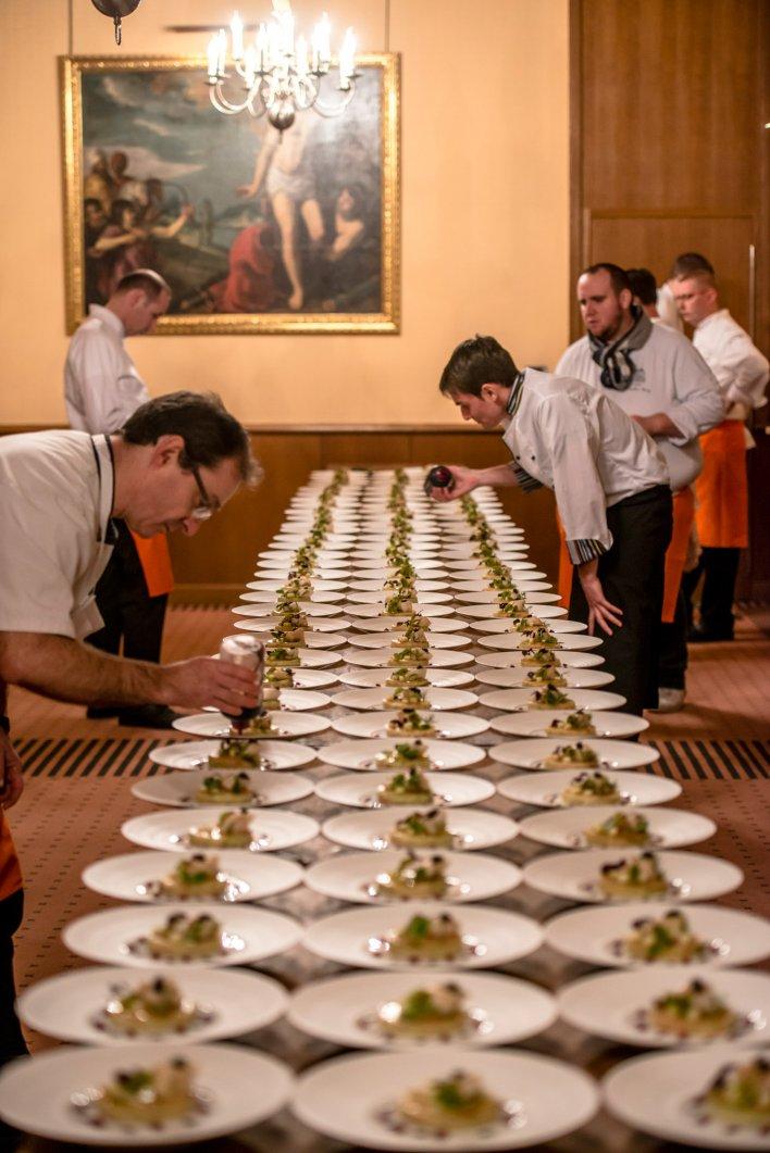 Chefs réunis à Beaune pour participer aux Dîners au profit des Restaurants du Coeur