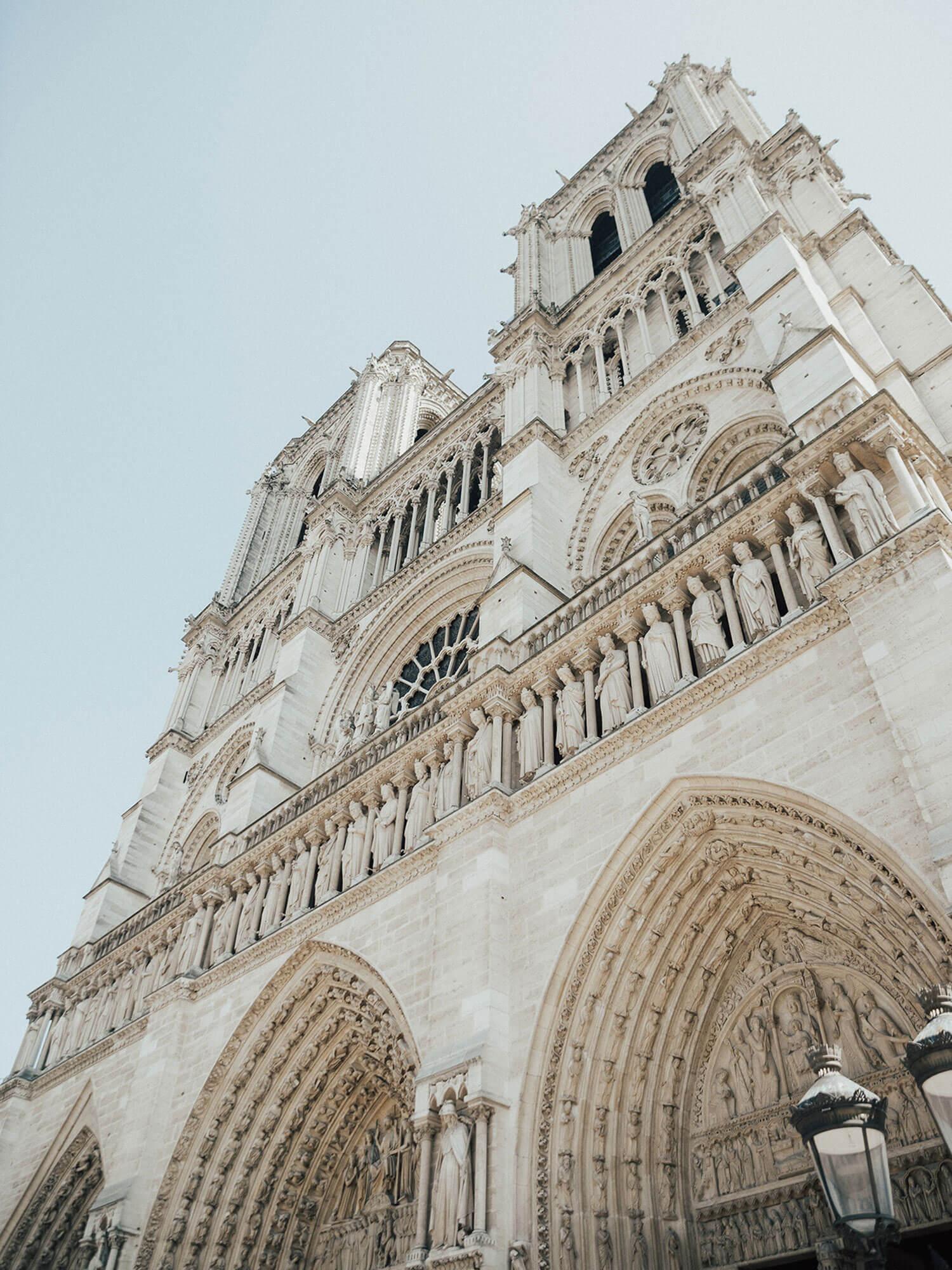 Façade de la Cathédrale Notre Dame de Paris