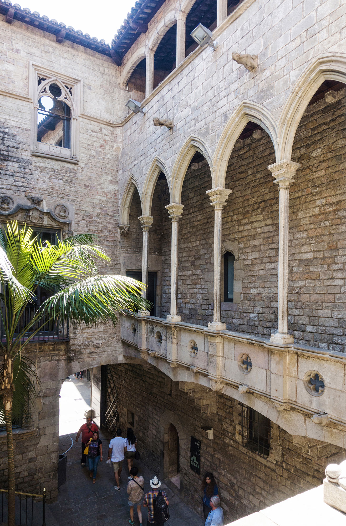 Détail de l'architecture du Musée Picasso à Barcelone.