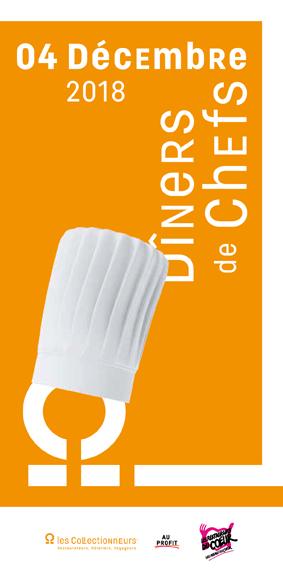 Affiche officielle de la 5ème édition des Dîners de Chefs au profit des Restaurants du Cœur