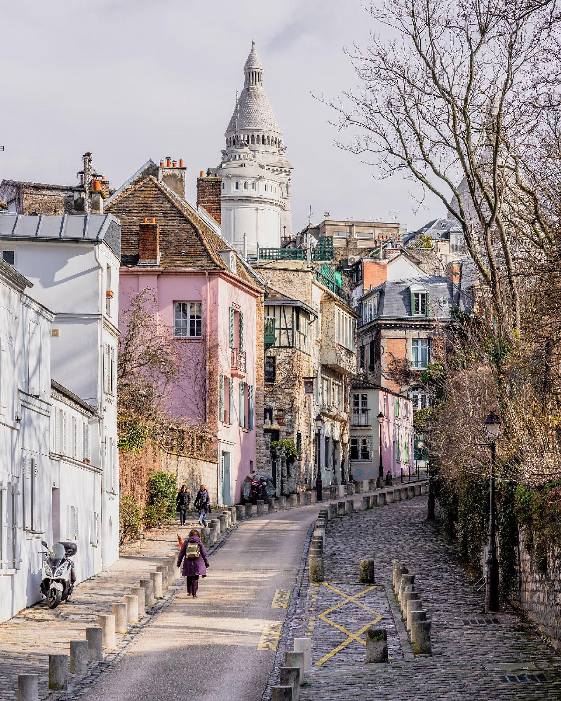 vue sur la Basilique du Sacré Cœur de Montmartre