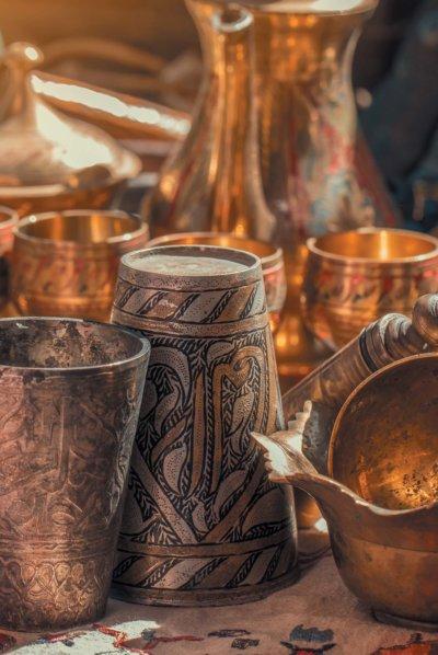 Élément de décoration en cuivre