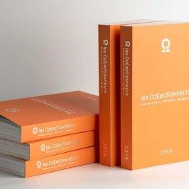 """Guide orange, inscription """" les Collectionneurs - Restaurateurs, hôteliers, voyageurs - 2019"""