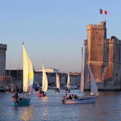 Voiles dans le port de La Rochelle © Frédéric Le Lan