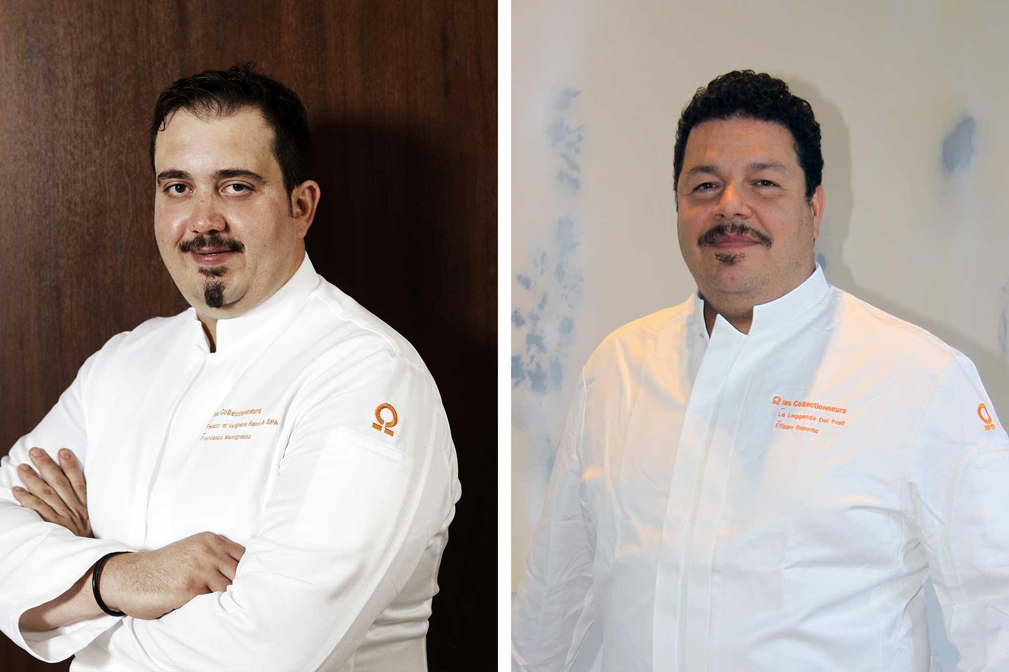 Deux portrait de chef, montage photo