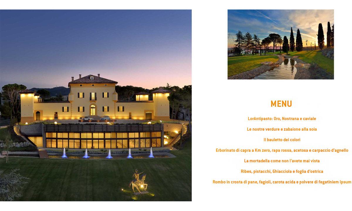 Montage photo avec menu en italien