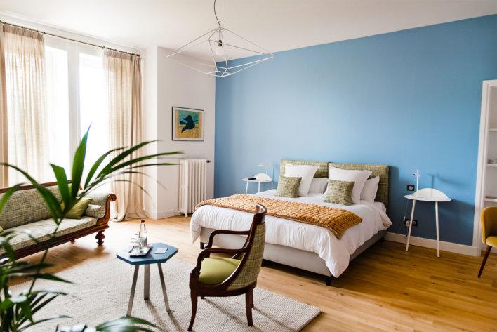 Chambre cosy de la Villa Guy & Spa