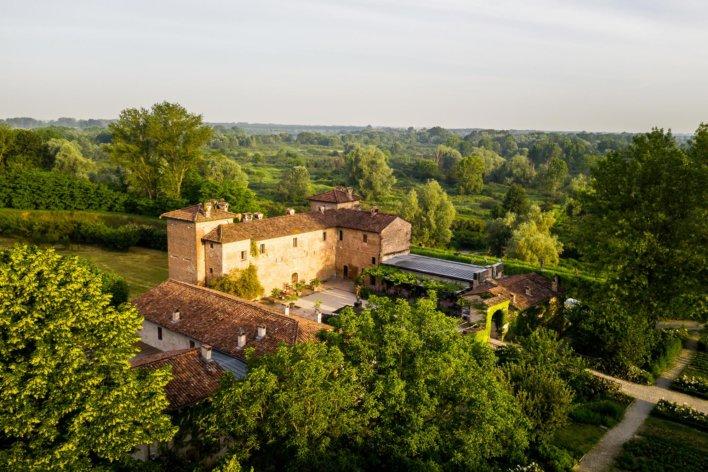Vue aérienne de l'établissement Antica Corte Pallavicina