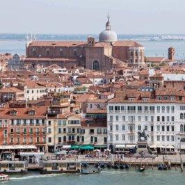 Vue aérienne sur Venise