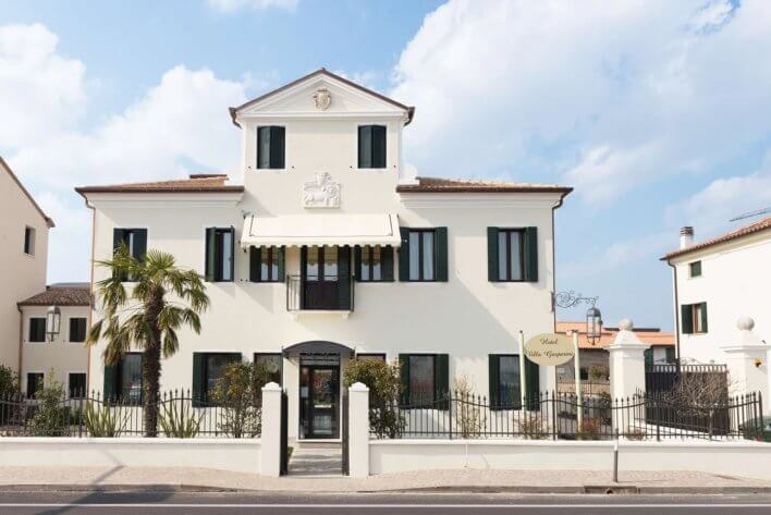Façade extérieure de l'Hotel Villa Gasparini