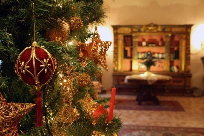 Détail sur une décoration de Noël