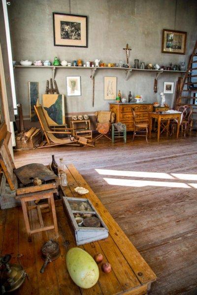 Atelier d'art, parquet ancien