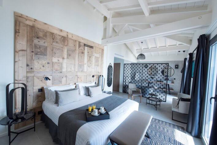 Chambre à la décoration contemporaine style urban chic