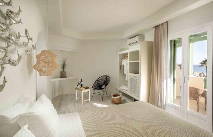 Chambre double avec plateau d'accueil