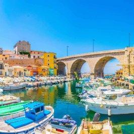 Vue du petit port du Vallon des Auffes à Marseille