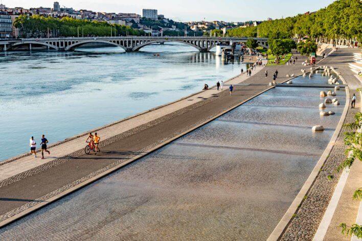 Les rives du Rhône à Lyon
