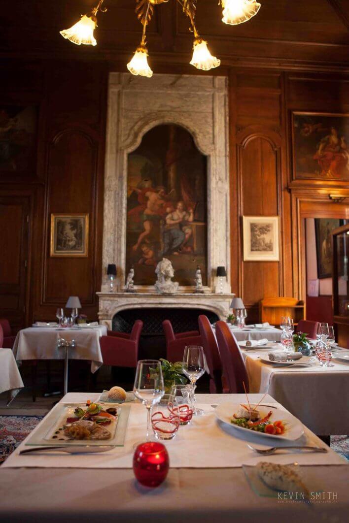 Salle du restaurant du Château du Colombier