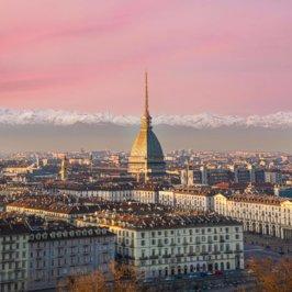 Vue aérienne de Turin