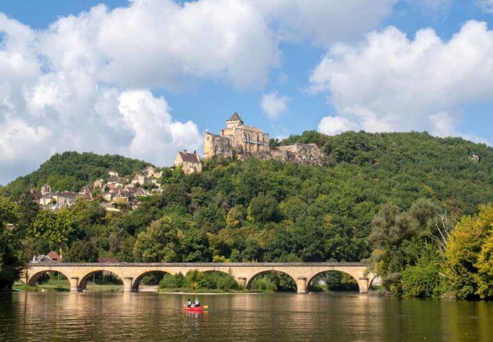 Vue de du pont et du château de Castelnaud