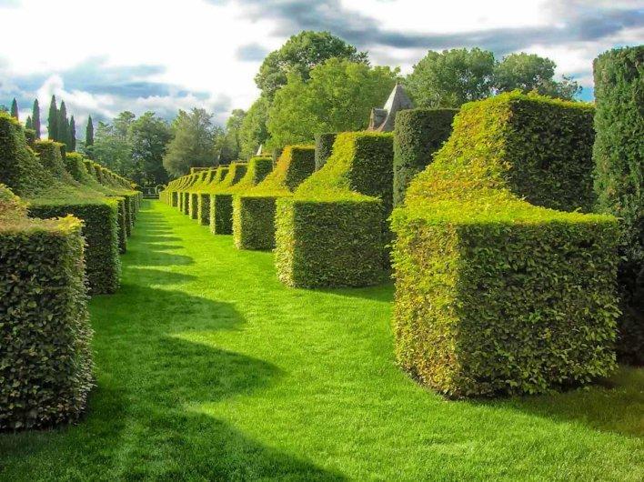 Les jardins du manoir D'Eyrignac à Sarlat la Cadena