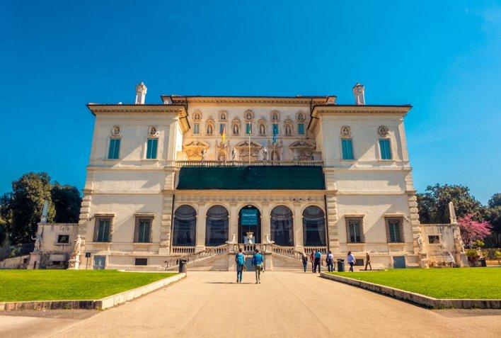 Façade de la La Galerie Borghèse à Rome