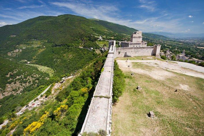 La Rocca Maggiore à Assise