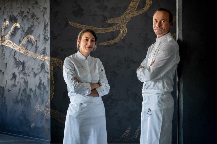 Photo chef Marie Gricourt et Christophe Hay © La Table d'A Côté
